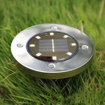 Utorch 8 LED Solar Lawn Light Decor - SILVER в магазине GearBest