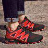 Men Trendy Breathable Shock-absorbing Anti-slip Sports Shoes - RED