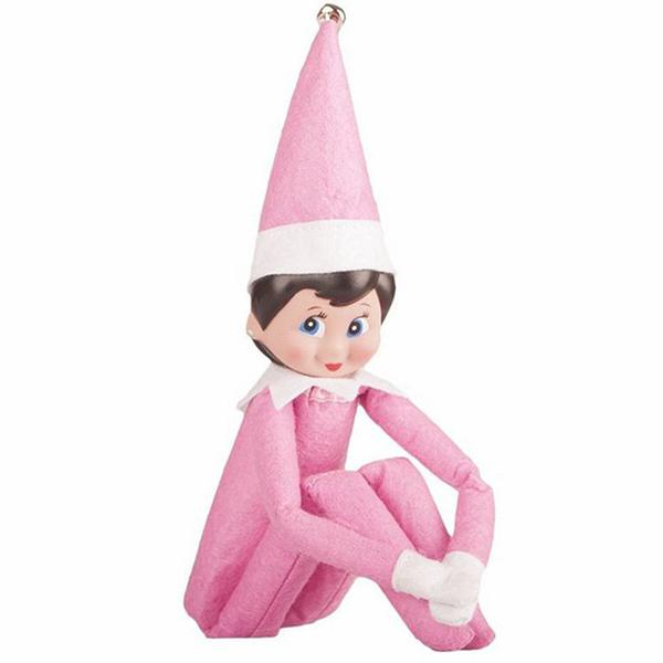Elf Doll Plush Toy Multi Colors Christmas Gift for Kids - PINK