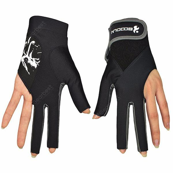 Boodun Men Woven Snooker Gloves Training Body Building Gym Billiard Sport Gloves Fitness Yoga Cycling Gloves M260932