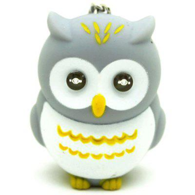 Owl LED Glowing Voice Keychain Gift