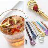 Stainless Steel Filter Spoon Anti-slip Drink Strainer - GOLD