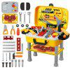 RX525 - 17 ABS Travelling Tool Box Set Pretend Play for Kids - BRIGHT YELLOW