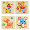 Tridimensional puzzle Jigsaw Toy 4PCS - MULTI