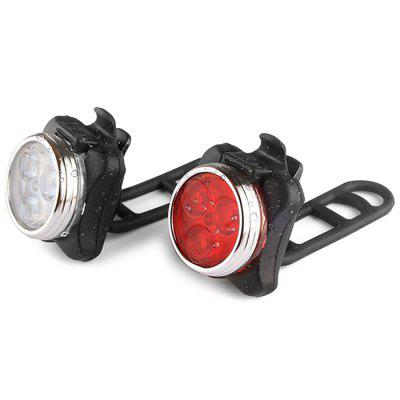 Luce per bicicletta ricaricabile USB Set Super Bright Free LED per bicicletta