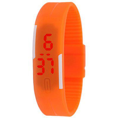 Silicone Rubber Gel Jelly LED Wrist Watch Bracelet Men Women