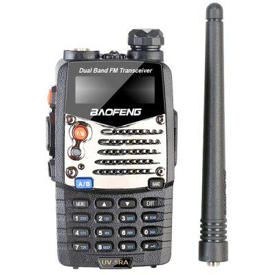 Gearbest BaoFeng UV - 5RA Wireless Handheld Walkie Talkie - BLACK EU PLUG