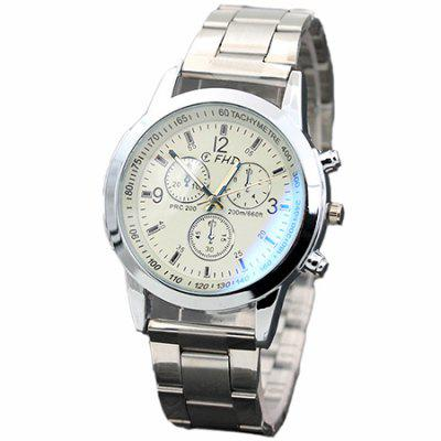 Fashion Men Zinc Alloy Band Quartz Business Watch