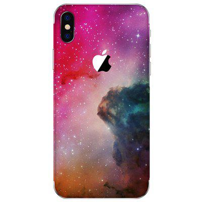 Deep Pink Anti-fingerprint Back Protective Film for iPhone X