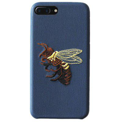 Trendy Bee Embroidery Phone Case for iPhone 7 Plus / 8 Plus