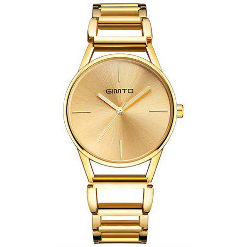 fa08bfadd4058 GIMTO Brand Women Gold Bracelet Watches Hollow Steel Dress Quartz Ladies  Wrist Watch Female Luxury Clock Relogio -  14.17 Free Shipping GearBest.com