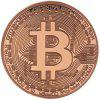 BALDR Gold Plated Coin Collectible BitCoin Art Collection Gift Physical - ROSE GOLD