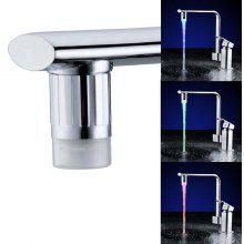 SDF - E6 Temperature Control Three Color LED Water Faucet with Adapter