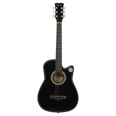 IRIN Graceful 38 inch Folk Cutaway Wooden Guitar for Beginner