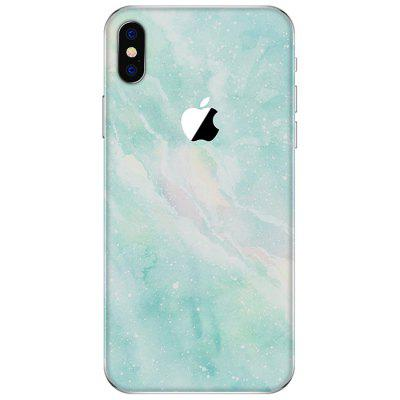 Stylish Light Green Back Protective Film for iPhone X