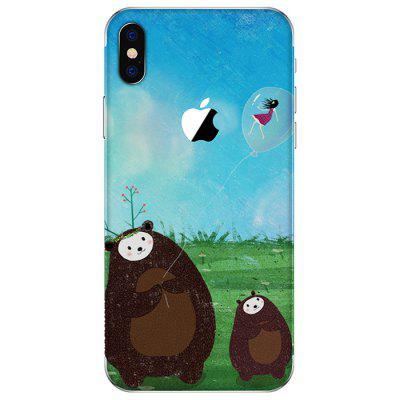 Cartoon Bear Anti-scratch Back Protective Film for iPhone X