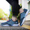 Men Fashion Breathable Anti-slip Stripe Sports Shoes - DEEP SKY BLUE