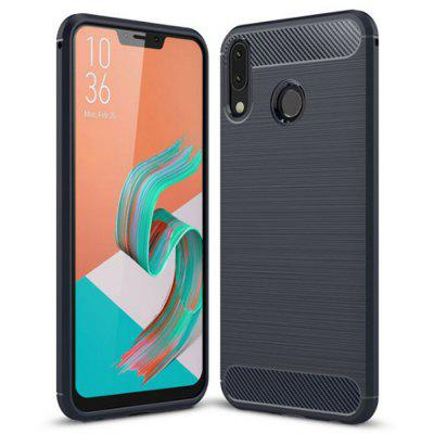 Naxtop Wire Drawing Carbon Fiber TPU Brushed Finish Phone Back Case for Asus Zenfone 5z ZS620KL