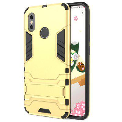 ASLING PC + TPU Bumper Protective Phone Case with Stand for Xiaomi Mi 8