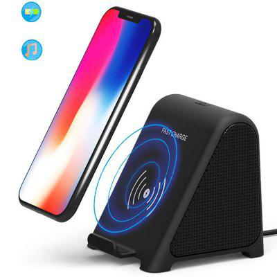2-in-1 10W Bluetooth Speaker Portable Wireless Charger