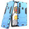 ASLING PC + TPU Bumper Protective Phone Case with Stand for Xiaomi Mi 8 SE - BLUE