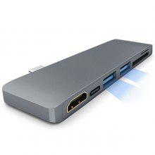 Type-C to 2-port USB 3.0 / HDMI / Type-C / SD / TF Converter