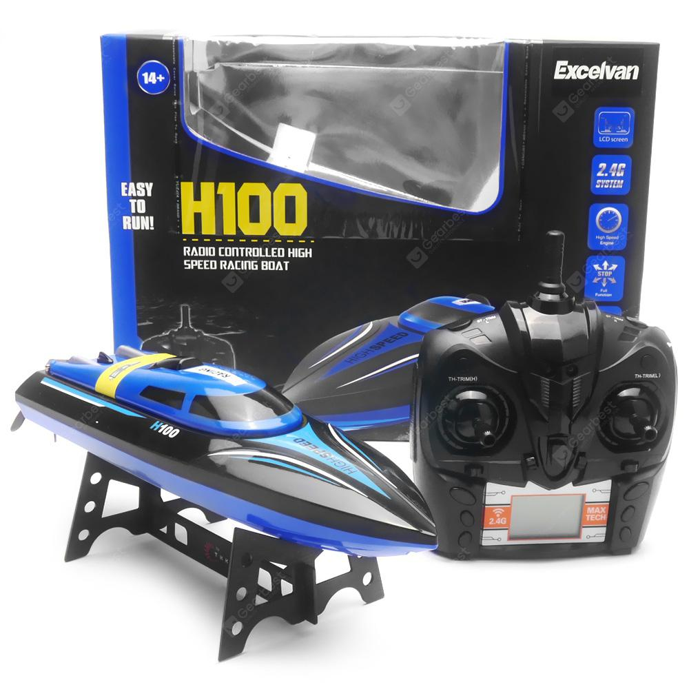 Excelvan H100 2.4GHz 4CH RC Racing Boat - ROYAL BLUE