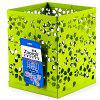Xacegn X9019 Flower Hollow out Iron Square Pen Holder - PISTACHIO GREEN