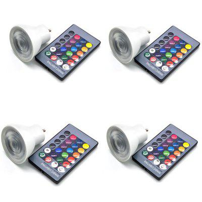 RGBW GU10 Spot Light Lamp Cup with Remote Control 4PCS