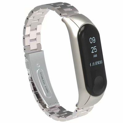 Fashion Stainless Steel Watchband for Xiaomi Mi Band 3