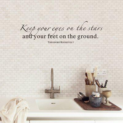Keep Your Eyes Word Style Wall Sticker for Living Room Bedroom кабель belkin jack 3 5 m jack 3 5 m 1м белый