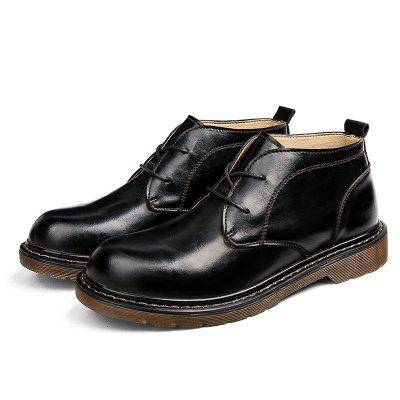 Stylish Casual High-top Leather Shoes