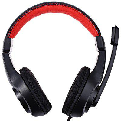 Wired Headphones with Microphone Over Ear Gaming  Low Bass Stereo for PC Laptop