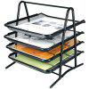 Xacegn X8054 Wire Entanglement Letter Tray 4 Tiers - BLACK
