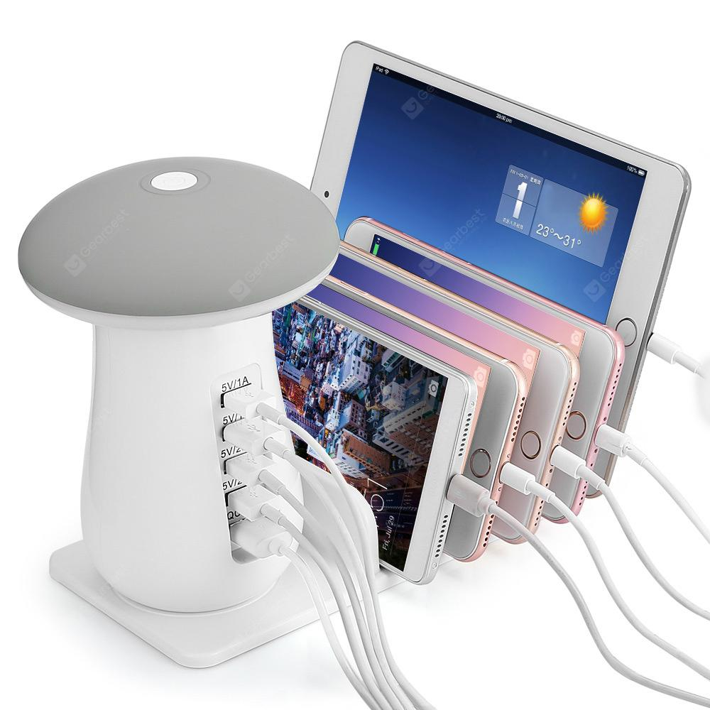 Utorch Q5 Multi-use USB Charging Holder - WHITE KEY FUNCTION + COOL WHITE + EU PLUG