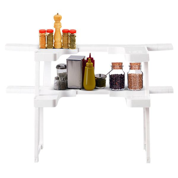 Adjustable Spice Rack Cabinet Bottle Organizer MILK
