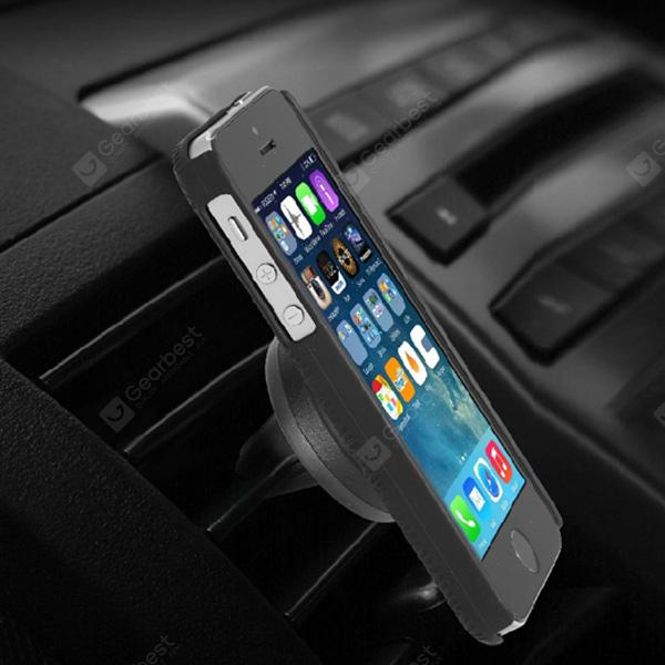 Excelvan Universal Air Vent Magnetic Car Cellphone Mount Holder - BLACK