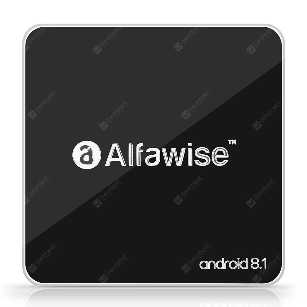 Alfawise A8 հեռուստացույցով BOX Rockchip 3229 Android 8.1 - BLACK EU PLUG