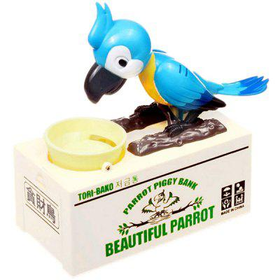 Creative Electric Parrot Piggy Bank