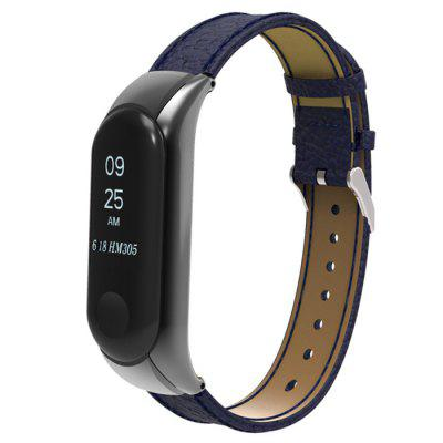 Leather Pin Buckle Watchband for Xiaomi Mi Band 3