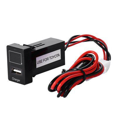 Car USB Charger with Voltage Display for Toyota