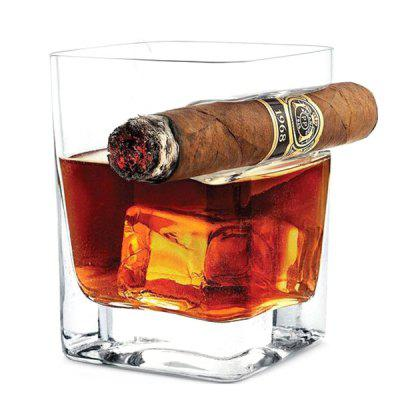 Whisky Glass Wine Cup with Cigar Holder