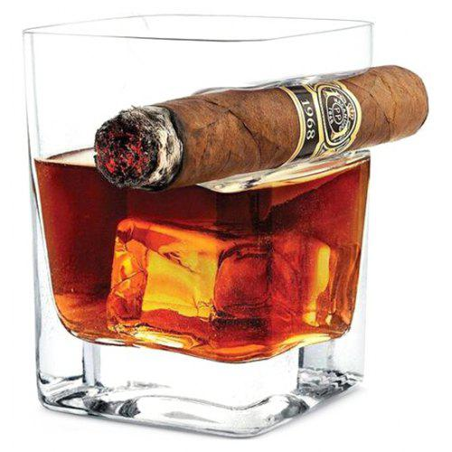 69c593eb2c3e Whisky Glass Wine Cup with Cigar Holder