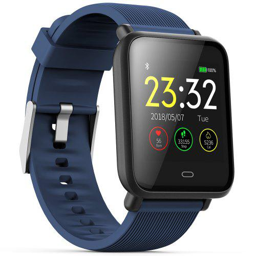 Gearbest Q9 Waterproof Sports Smart Watch for Android / iOS - CORAL BLUE Heart Rate Monitor Blood Pressure Function Intelligent Device
