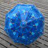 Trendy Automatic Transparent Leaf Stick Umbrella - EARTH BLUE