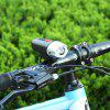 LEADBIKE LD52 Waterproof USB Charging Bike Front Light - BLACK