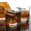 Whiskey Glass Wine Cup mit Zigarrenhalter - TRANSPARENT