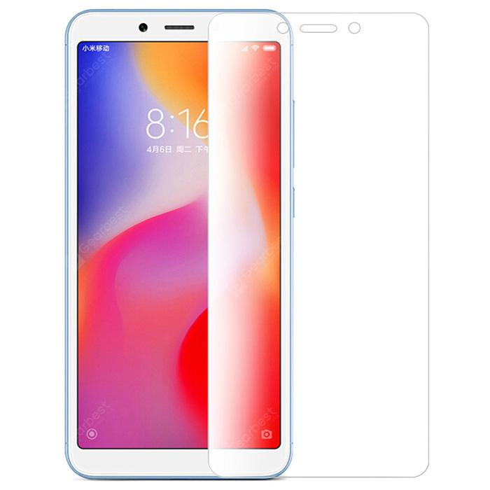 LEEHUR Fully Transparent Tempered Glass Protective Film for Xiaomi Redmi 6
