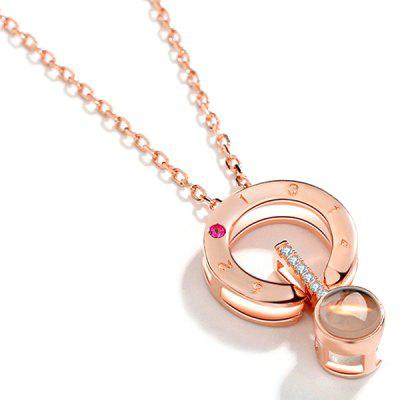 Фото Light Projection Pendant Love Memory Necklace