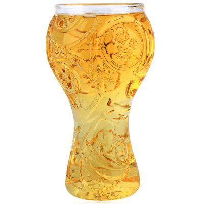 Football Trophy Design Borosilicate Beer Glass 400ml